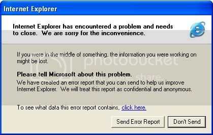 IE Crash